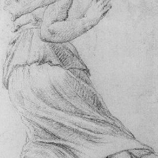 도망치는 여인의 뒷모습 : 사비나 여인들의 납치 세부 묘사