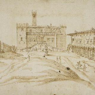 미켈란젤로의 복원 전 카피톨리움 언덕의 전경