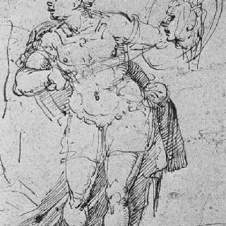 아르고스의 머리를 보여주는 헤르메스