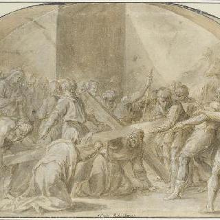 십자가의 무게에 짓눌리는 그리스도
