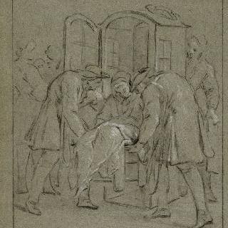 성 메다르의 기적으로 치유된 사람과 얀센파의 광신자들 : 병든 아르두앙 아씨