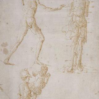 단검을 든 남자의 누드, 성 세바스찬, 헤르메스