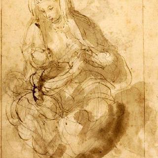 아이를 안고 앉아 있는 여자