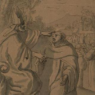 수도사 의복을 주는 주교