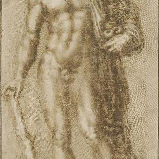 헤리페리데스 정원의 사과를 들고 서 있는 헤라클레스