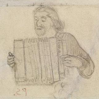 아코디언을 연주하는 브르타뉴 의상을 입은 폴 고갱