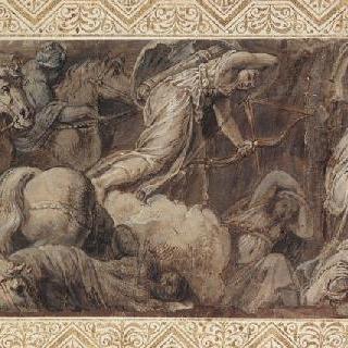 폴리도르 드 카라바주풍의 니오베의 아이들의 죽음