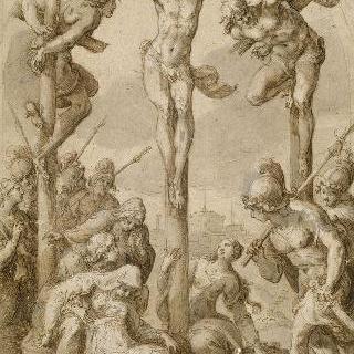십자가의 그리스도 ; 퐁텐블로의 왕의 예배당에 대한 습작