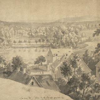 브뤼셀 부근 캉브르 수도원의 전경