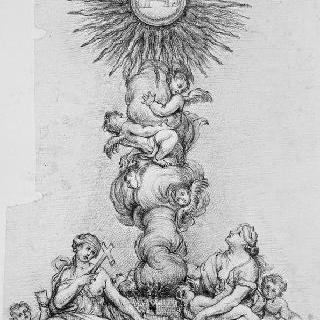 그리스도의 모노그램 위의 성체현시대