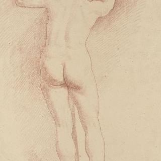 여인상 기둥의 뒷모습