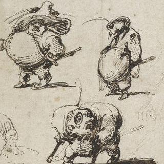 풍자적인 세 인물 ; 장교, 요리사와 불구자