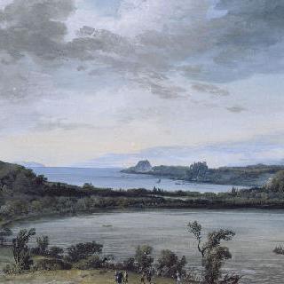 아베른 호수의 전경