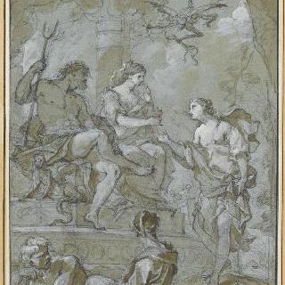 프시케를 맞이하는 지옥의 플루톤과 페르세포네