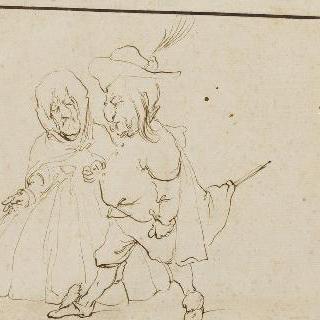 풍자적 부부 : 신사와 노파