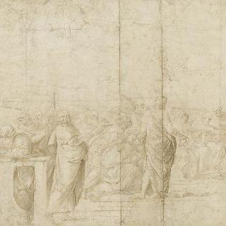 영성체 논쟁의 왼쪽부분의 열아홉 형상들
