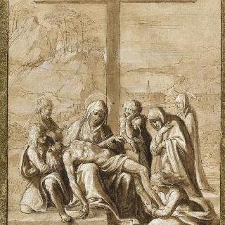 십자가 아래의 죽은 그리스도에 대한 통한