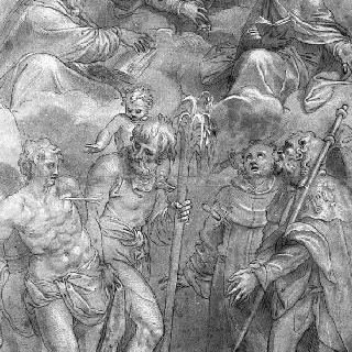 아기와 두 성자 그리고 네 명의 순교성자에게 나타난 성모