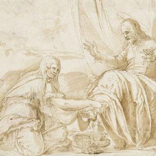 그리스도의 발을 씻어주는 막달라마리아