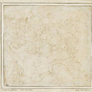 로마인들과 파르티아인들의 싸움