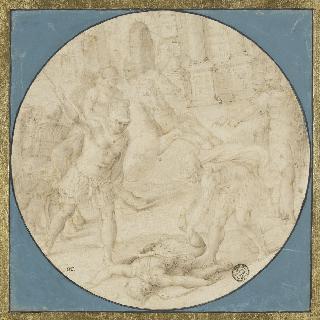 판다로스의 시체를 지키는 아에네아스
