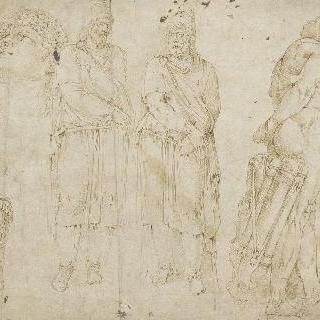 다세스의 죄수들, 헤라클레스 파르네즈, 남자 두상에 대한 습작