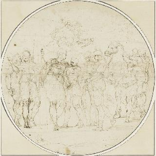 무장을 하는 아킬레스. 파크로클레스의 죽음을 묘사하는 크로키