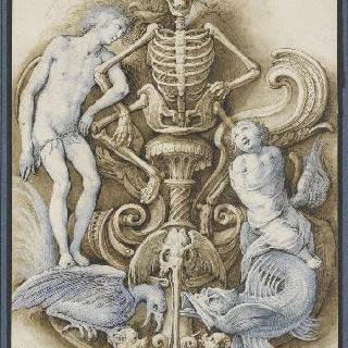 죽음을 연상시키는 상징들의 장식적 구성