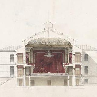 루아양의 카지노의 모형, 극장의 횡단면