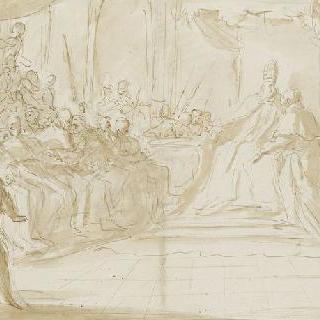 교황 주위의 추기경들의 모임