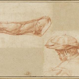 팔 습작 : 베레모를 쓴 남자의 흉상