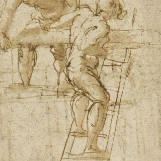 두 남자 : 사다리를 든 남자와 대들보를 든 남자