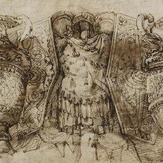투구, 갑옷, 두 개의 방패와 두 개의 항아리의 전리품