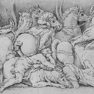 니오베의 아이들에게 화살을 쏘는 아폴론과 다이아나