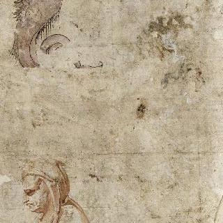 습작 2점 : 왼쪽 방향의 남자의 측면 두상. 왕태자