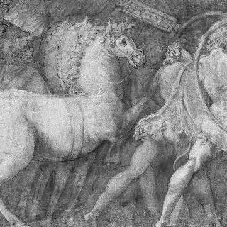 말과 인물들 : 폴 에밀의 승리의 세부 묘사