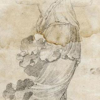 두 팔을 높이 든 서 있는 여인 : 여인상 기둥