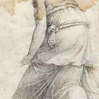 양팔을 들고 서 있는 여인 : 헤리페리데스 정원의 인물