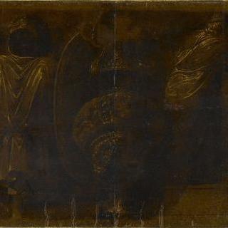 사비나 여인들의 납치의 세부 묘사 : 전리품. 리쿠르고스와 누마