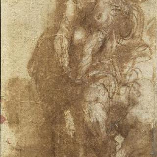 아기 예수를 안고 서 있는 성모