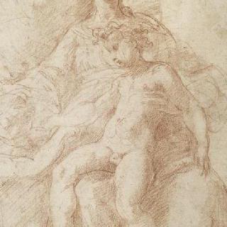 작은 성 요한, 아기 예수를 안고 있는 성모와 성모의 상반신 반복