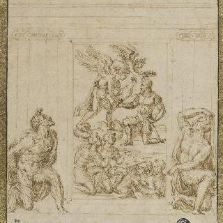 성 미카엘 대천사가 관을 씌워주는 안드레아 도리아의 부조