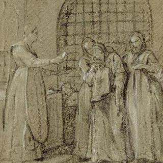 성 메다르의 기적으로 치유된 사람과 얀센파의 광신자들 : 치유된 스타파르 귀부인
