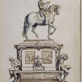 퐁네프에 세워질 앙리 4세의 기마 기념건조물 초안
