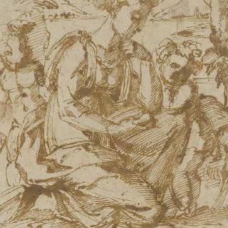 풍경 속의 성모 마리아, 아기 예수와 작은 성 요한