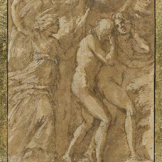 지상낙원에서 쫓겨나는 아담과 이브