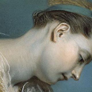 소녀의 두상 (18세기 초기 프랑스 회화의 세부 묘사 복제화)