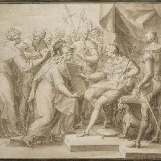 신교 자유의 칙령을 복원시키는 루이 16세 (초벌화)