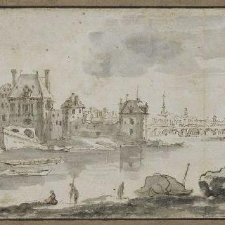 센 강과 노트르담 대성당이 보이는 파리의 전경