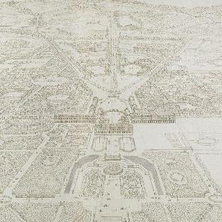 정원 쪽에서 바라본 베르사유 궁과 도시의 전경